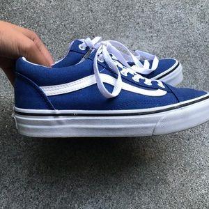 Vans Shoes - Vans Blue old skool low top